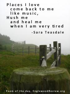 Sara Teasdale - Places