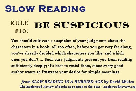 Slow Reading-Rule 10