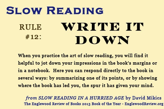 Slow Reading-Rule 12