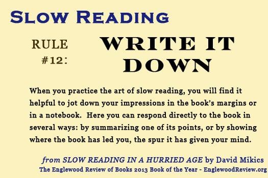 Slow Reading-Rule 12