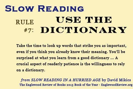 Slow Reading-Rule 7