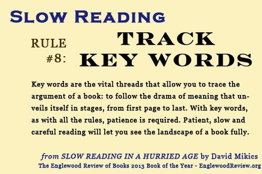 Slow Reading-Rule 8