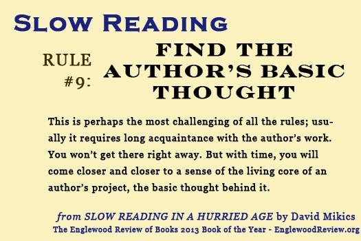 Slow Reading-Rule 9