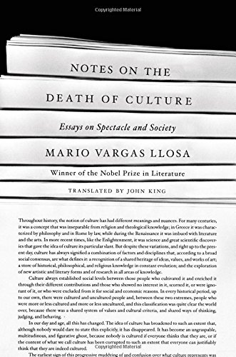 mario vargas llosa notes on the death of culture review the  the death of elite culture