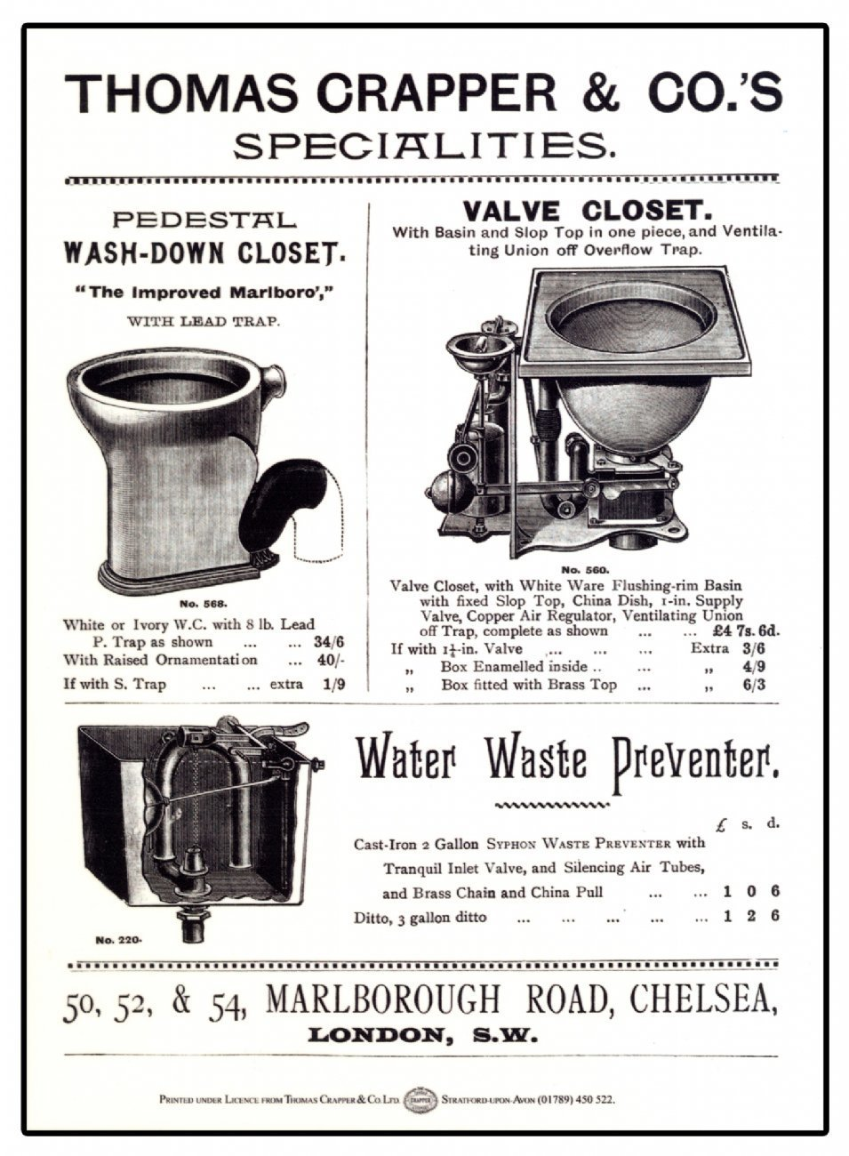 thomas crapper In the ancient orient, a sensible system developed whereby waste was collected on traveling carts, then brought to dung heaps for decomposition, in the west, chamber pots were simply ' dumped in the streets, creating serious health hazards, until the renowned thomas crapper invented the flush water closet in victorian england.